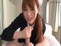 Japanese Nurse Gives The Patient A Handjob And A Foot Job