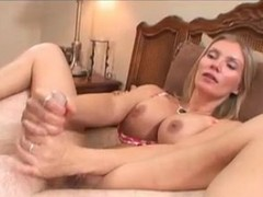 Blondiner Onani Jerking