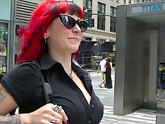 Voyeurchamp.com Wife Morgan La Rue Flashing Upskirts In NYC!