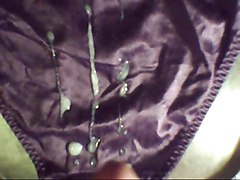 cum on purple satin panties with slowmo at end