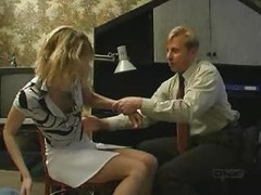 Russian Bussinessman Atack Blonde Girl