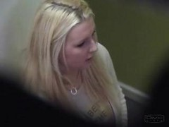 Voyeur Spy Busty Blonde Amateur With Hidden Cam In Solarium