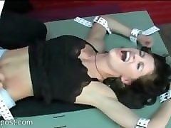 gorgeous allison tickled by masked tickler