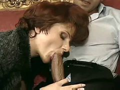 Sexy French Mature Cougar In Heels Sex On Sofa