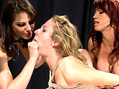 Fabulous fetish, blonde porn scene with hottest pornstars Nicki Hunter, Chastity Lynn and Bobbi Starr from Whippedass