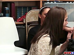 peyton robbie watch her mom sheena suck cock