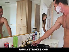 familystrokes- mom showered while i fucked my step-dad