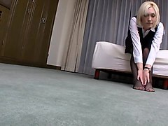 Cute blond girl fucked in hotel room