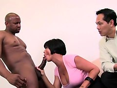 Shay Fox Fucks Black Cock While Guy Watches