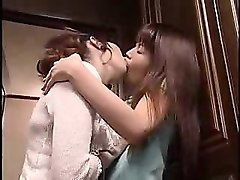 alluring japanese lesbians share sexual tricks and passiona