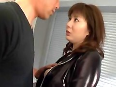 luscious japanese honey yuma asami whips out her tits and gets nailed