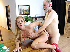 Chrissy Fox in Sexy Sexy babe Chrissy Fox is the perfect prey for this horny old fart - OldGoesYoung