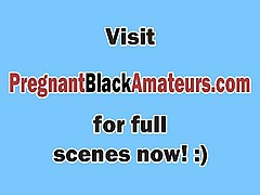 pregnant amateur white chick filled by black rod