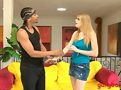 tight blonde nat turnher with glasses dp by black men
