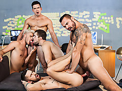 Griffin Barrows & Jessy Ares & Ken Rodeo & Paddy O'Brian & Sunny Colucci in Ex-Machina : A Gay XXX Parody Part 5 - SuperGayHero