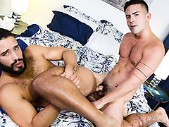 Trey Turner & Cesar Rossi in The Couple That Watches Porn Together Stays Together Video - MenOver42