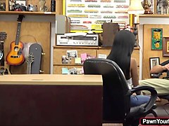 hot ebony babe gets fucked hard for cash inthe pawnshop