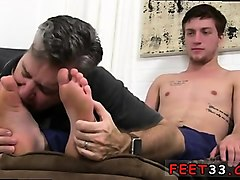 gay cum feet when he said he was ok with me idolizing his fa