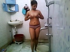 Super Boobs Indian Girl Hot Tease Bath Show