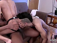 young interracial gay sex orgy film