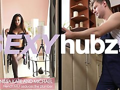 anissa kate in french milf seduces the plumber