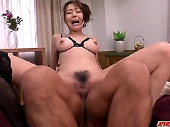 akari asagiri gets cock in the butt hole during harsh anal
