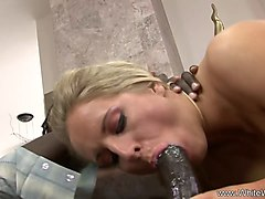 ebony anal sex with blonde milf rough interracial sex