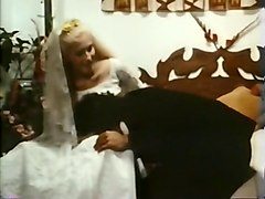 dude banging his hot bride with his big brown cock