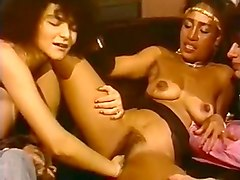 awesome hardcore lesbian action with busty redhead and ebony babe
