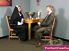 british nun facialized after sucking