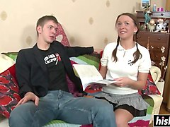 russian schoolgirl loves his hard shaft