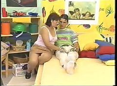 Mom seduced son for first sex