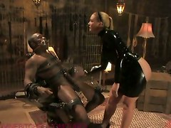 Dominatrix Drenches Slave With Her Squirting Pussy