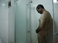 Wanking In The Shower